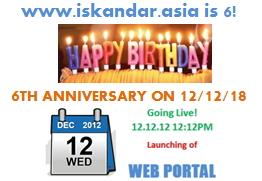 6th anniversary of www.iskandar.asia
