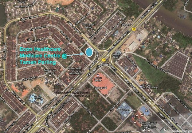 econ-healthcare-medicare-centre-taman-perling-location-map